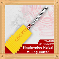 Free Shipping  10pcs  3.175*6  mm  high quality single flute milling cutter