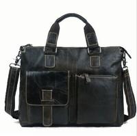 Hot New 2015 100% Genuine leather men Bags shoulder bag leather men's travel bags business laptop handbags briefcase bolsos tote