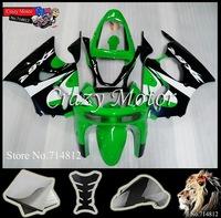 * 1998 1999 ZX6R Fairing green black  Body Kit For Kawasaki Ninja zx6r 1998 1999 98-99 ZX6R ABS Plastic Bodywork