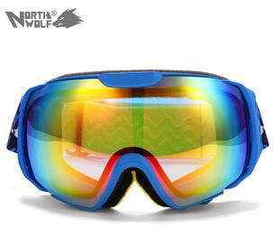 Северная волк очки двухместный anti-туман лыжах очки видов спорта лыжный прозрачные линзы альпинизм зеркало снегоход защитные