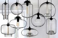 7 Colors Modern Simple Design Chandelier Edison Incandescent Bulb Glass Pendant Lamp Home Decoration Multiple-Colored