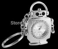 Jewelry crystal pen drive delicate Robot Watch keychain model USB flash drive 2.0 Pen memory U disk 4GB 8GB 16GB 32GB
