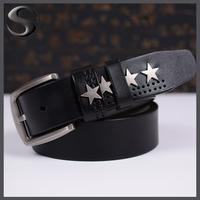 Free Shipping 100% Cowskin Leather Belt Famous Brand Design Male Belts Men's Belts Men Cow Leather Belt Leisure Wainstband