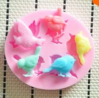 100pcs/lot Free shipping Lovely bird silicone mold,Fondant Cake Decorating Tools,Silicone Soap Mold,cake decorating