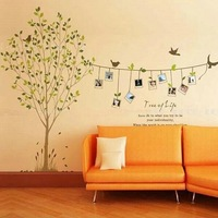 new arrive Green trees Photo Frame wall stickers kitchen frozen wall sticker home decor decoration toilet sticker Free shipping