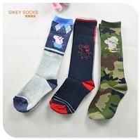 New 3 pairs boys sock 3-6 Years old Children George /Peppa  Cotton Socks High Quality Kid In tube Socks