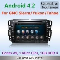 Pure Android 4.2 WiFi 3G Car DVD GPS Stereo For GMC Sierra Yukon Tahoe 2007 2012 DVB-T ISDB-T TV OBD Mirror link DVR free map