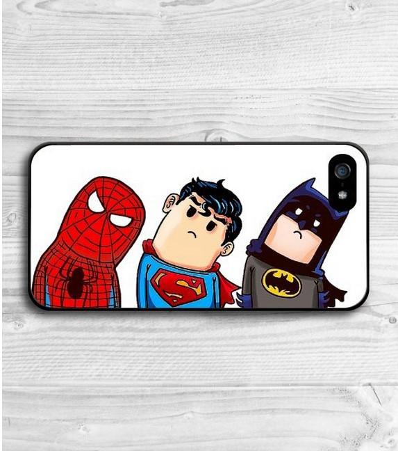 NEW design Tilt their heads Super Hero Spider-Man Spongebob Batman Funny Shylock Protective Hard Cover Case For iPhone 5 5S(China (Mainland))
