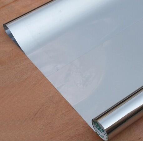 PVC adhesive window glass sticker films insulation one way mirror film sunscreen walls transparent plastic mirror windows film(China (Mainland))