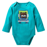 2015 trend soft touch cotton infant rompers long sleeve romper easy for diaper changing