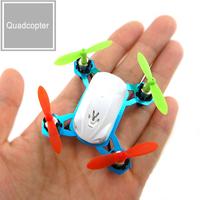 Miniature remote control aircraft  quadrocopter mini RC Airplanes 360 degree rotation free shipping