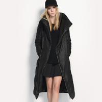 1 for 212 down coat black coat female 2014 slim waist slim stand collar medium-long thickening