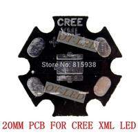 Freeshipping!20MM CREE XML/XML2 T6 U2 LED PCB/ Aluminum base plate/ Circuit board/PCB LED board 100pcs/lot