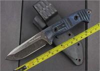 Free shipping New Micarta Handle D2 Blade Full Tang High quality Hunting Knife VTH61