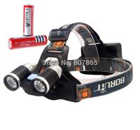 3000 Lumens 2 x CREE XM-L  L2 LED  Headlamp Rechargeable Headlight Head Torch Flashlight + Battery  Free Shipping