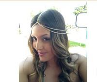 2014 Celeb Bohemia Women Crown Hair Head Chain Gold Headband Hairband Headpiece Hari Accessory Accessories 6pcs/Lot Free ship