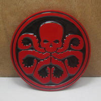 Avengers Captain America Hydra red skull belt buckle FP-03513 with red coating free shipping