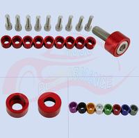 9 PACK Aluminum  8mm Metric Car Cup Fender Washers Kit (Header) Fit For Honda B/D/H/F/K Series Engine
