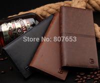 New men wallets famous brand man wallet male money purses fashion classic soild pattern designer Soft ID Card Case