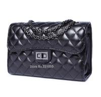 Hot!! Fashion Woman Handbag Quilted Genuine Leather Diagonal Package High quality Chain Handbag Bag Small Fragrant