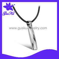 GusKu Gus-TUPN-004 New Arrival  Free shipping POPULAR  tungsten pendant necklace with chain