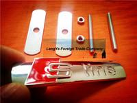 automobile front hood grill badge sline car grille badge logo emblem brand with screws