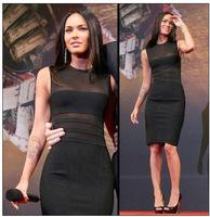 2015 Spring New Arrival European Brand HL Bandage Dress Sleeveless Sexy Elegant Slim Transparent Dress