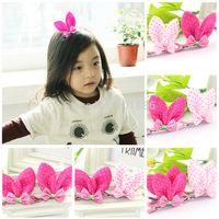 Free Shipping,Factory Wholesales Lovely Varabow Rabbit ears Hairwear For Little Girl