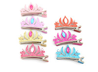 Free Shipping,Factory Wholesales Lovely Rhinestone Crown Hairwear For Little Girl(mix color)