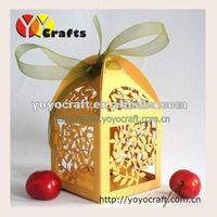 free shipping! laser cut mini wedding decoration and gift box