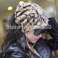 Spring  Autumn beanie men hats, Word print 3 wearing ways Skull Chunky Baggy Warm touca beanie women cap,gorros carhart,