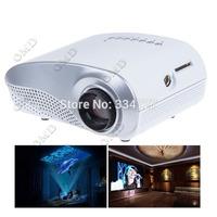 24W LCD High Definition Home Mini Projector w/ HDMI / VGA / AV / USB / SD / TV Supports Maximum Resolution 1080P - White