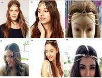 2014 New Bohemian Women Metal Head Chain Jewelry Forehead Dance Headband Piece Hair band Hair Accessories Accessory