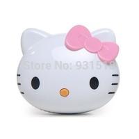 8000mAh Cartoon Cute Hello kitty Power Bank Mobile Powerbank USB External Battery charger 100pcs/lot