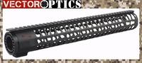 TAC Vector Optics  KeyMod Tactical 15 inch One Piece Free Floating Handguard Mount Bracket with Detachable Rails BLACK