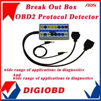 2014 100% Original Newest  ADSDetector & Break Out Box OBD2 Protocol Detector Break Out Box Diagnostic Scanner Free Shipping