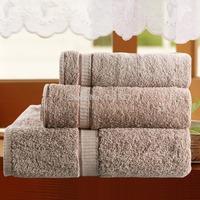 100% Cotton Grey Handkerchief+Face Towel+Bath Towel Set 3pcs/lot  Plain Dyed toalha de algodao Home Spiral Satin