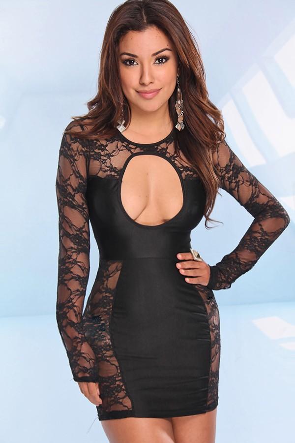 Lace Dress Open Front
