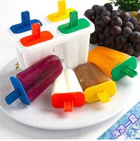 Ice Cream Sticks!Summer ice cream popsicle mold practical creative homemade ice cream frozen mold wholesale 4 grid k202