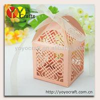 free shipping! laser cut nice wedding favor gift box