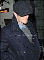 2015 Newest Solid Color Vintage Beckham Male Fashion Octagonal Cap Men Woolen Newsboy Cap Painter Beret Hat Free Shipping Retail