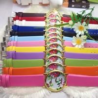 2014 New Fashion Green Watch Dot Rose Flower GENEVA Women Casual Watch Hot Sales Floral Quartz Watches for Women