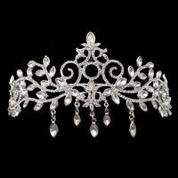 2014 new arrival Handmade wedding hair tiara Vintage crystal hair jewelry bridal party crown woman accessories XB41
