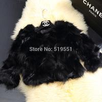 Woman NEW 2014 Winter Coat The fox fur short coat 100% real  free shipping