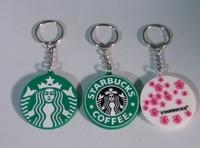 Free shipping (3pc/lot) Starbucks Wind Plastic Keychain  chain key