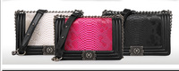 retail fashional women  leather handbags  lady shoulder  messenger bags , woman  tassel ladies metal chain hand bag 3 colors