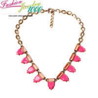 Hot Sale Vintage Arrow Triangle Stone Collar Bib Necklace Fashion Vintage Chunky Statement Choker Charm Jewelry for Women Party