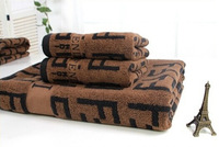 wholesale luxury toallas Soft cotton towels vintage brand hand towel hair drying clothing brand towel