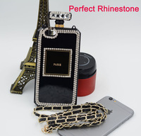 Luxury Rhinestone diamond Perfume Bottle phone Case For iPhone 6 Plus for Samsung Galaxy S5 Note 4 Case Cover protective shell