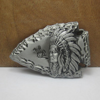 Indian belt buckle with pewter finish FP-03515 suitable for 4cm wideth belt with continous stock free shipping